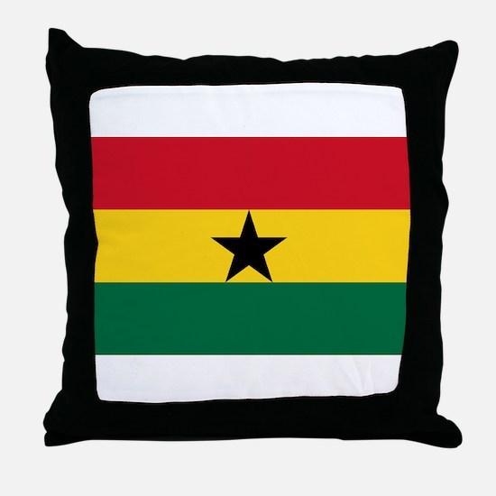 Ghana - National Flag - Current Throw Pillow