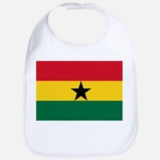 Ghana - National Flag - Current Cotton Baby Bib