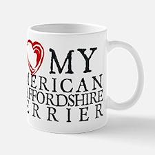 I Heart My Am. Staffordshire Terrier Mug