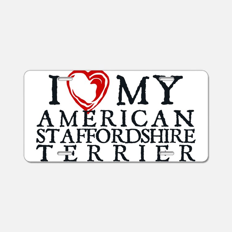 I Heart My Am. Staffordshire Terrier Aluminum Lice