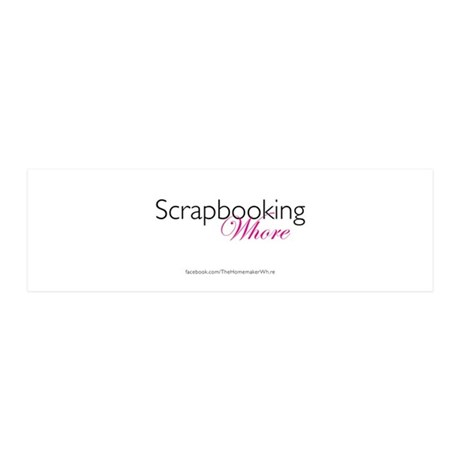 Scrapbooking Whore (w/logo) 20x6 Wall Decal
