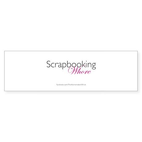 Scrapbooking Whore (w/logo) Sticker (Bumper)