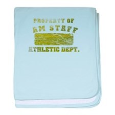 Property of AmStaff baby blanket