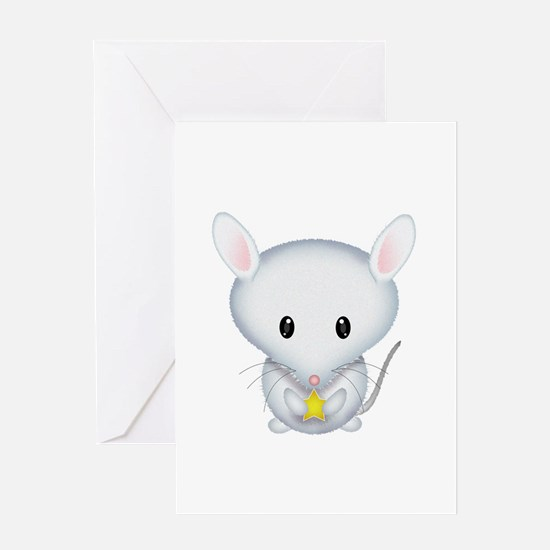 Little White Mouse Greeting Card