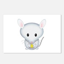 Little White Mouse Postcards (Package of 8)