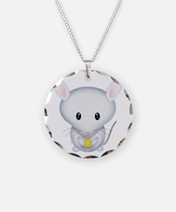 Little White Mouse Necklace