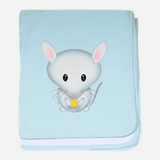 Little White Mouse baby blanket