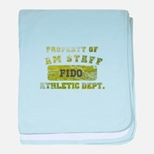 Personalized Property of AmStaff baby blanket