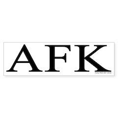 AFK Bumper Bumper Sticker