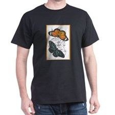 Butterfly Insects (Front) Black T-Shirt