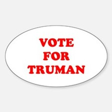 Vote For Truman Oval Decal