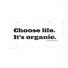 Organic Life Aluminum License Plate