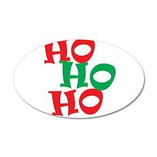 Ho Ho Ho - Santa Laugh - Merry Christmas Wall Decal