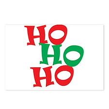Ho Ho Ho - Santa Laugh - Merry Christmas Postcards