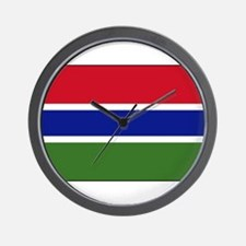 Gambia - National Flag - Current Wall Clock