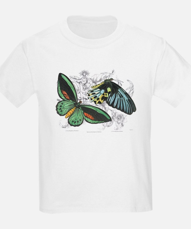 Butterfly Insects (Front) Kids T-Shirt