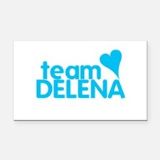 Vampire Diaries Team Delena Rectangle Car Magnet