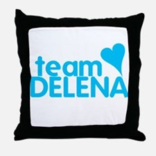 Vampire Diaries Team Delena Throw Pillow