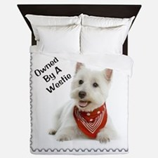 Owned By A Westie 123 Queen Duvet