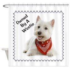 Owned By A Westie 123 Shower Curtain