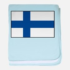 Finland - National Flag - Current baby blanket