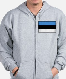 Estonia - National Flag - Current Zip Hoodie
