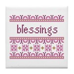 Blessings 4 Tile Coaster