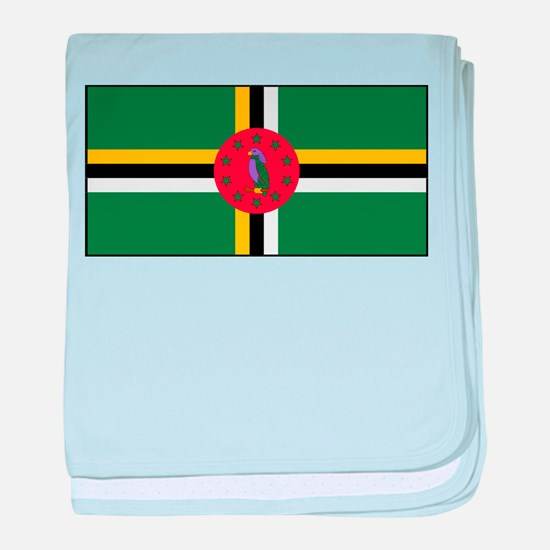 Dominica - National Flag - Current baby blanket