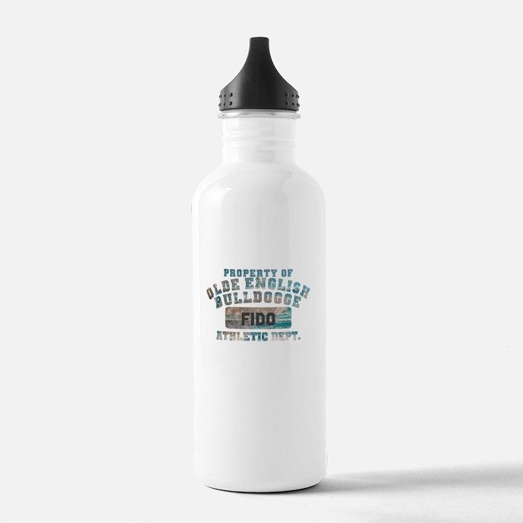 Personalized Olde English Bulldogge Water Bottle