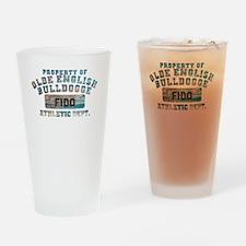 Personalized Olde English Bulldogge Drinking Glass
