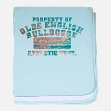 Property of Olde English Bulldogge baby blanket
