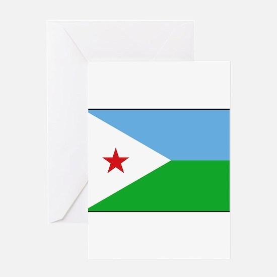 Djibouti - National Flag - Current Greeting Card