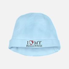 I Heart My Bulldogge baby hat