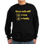 Wanna make out Sweatshirt (dark)