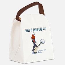 Snowbound Penguin Canvas Lunch Bag