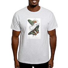 Madagascar Butterflies (Front) Ash Grey T-Shirt