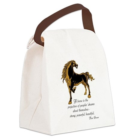 Strong powerful beautiful Canvas Lunch Bag