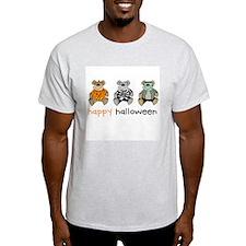 Happy Halloween (Bears) Ash Grey T-Shirt