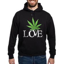 Love Cannabis Weed Hoodie