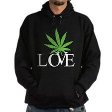 Love Cannabis Weed Hoody