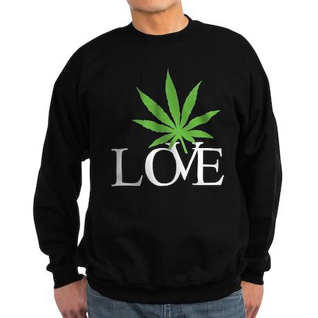 Love Cannabis Weed Sweatshirt (dark)