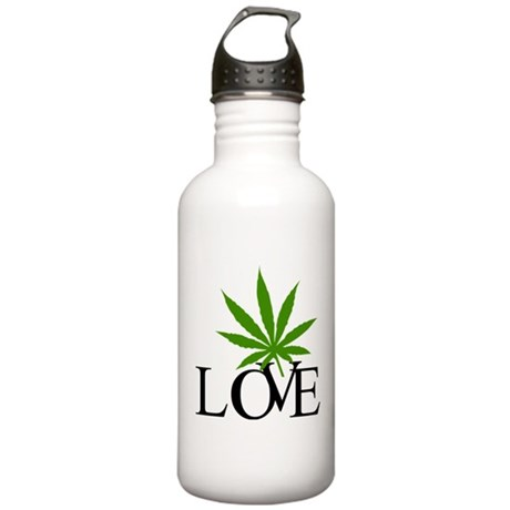 Love Cannabis Weed Stainless Water Bottle 1.0L