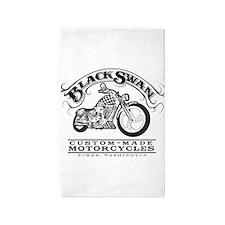 Black Swan Motorcycles 3'x5' Area Rug