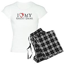 I Heart My Great Dane Pajamas