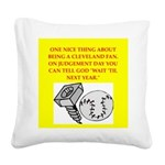 CLEVEland baseball Square Canvas Pillow