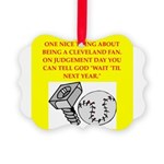 CLEVEland baseball Picture Ornament