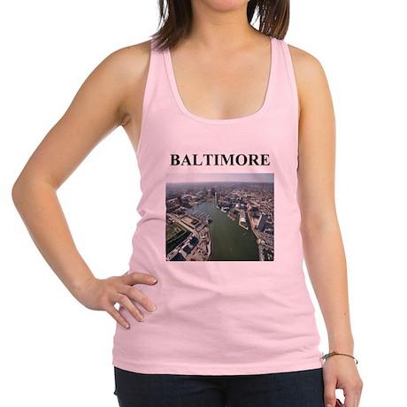 baltimore gifts Racerback Tank Top