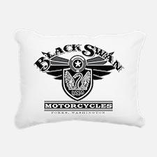 Black Swan Motorcycles Rectangular Canvas Pillow