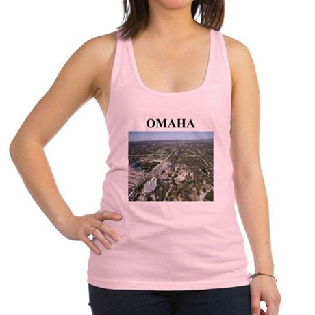 omaha nebraska gifts Racerback Tank Top