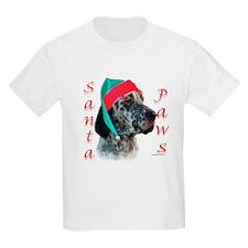 Santa Paws English Setter Kids T-Shirt